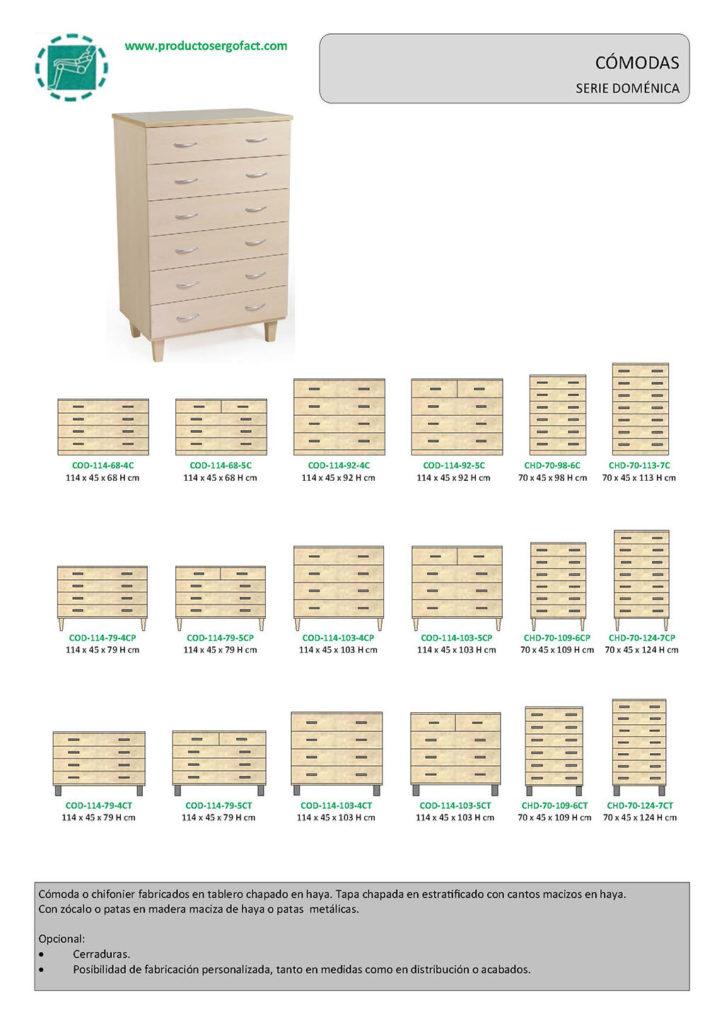 C modas serie dom nica productos ergofact - Comodas a medida ...